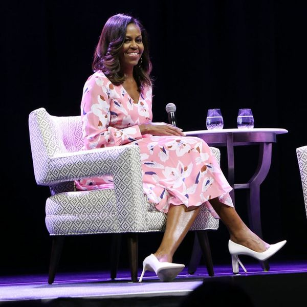 Michelle Obama Wore a Power Pink Dress and It Was Awesome