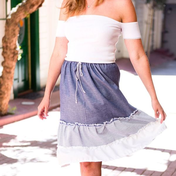 DIY This Tiered Anthro Skirt for Half the Cost