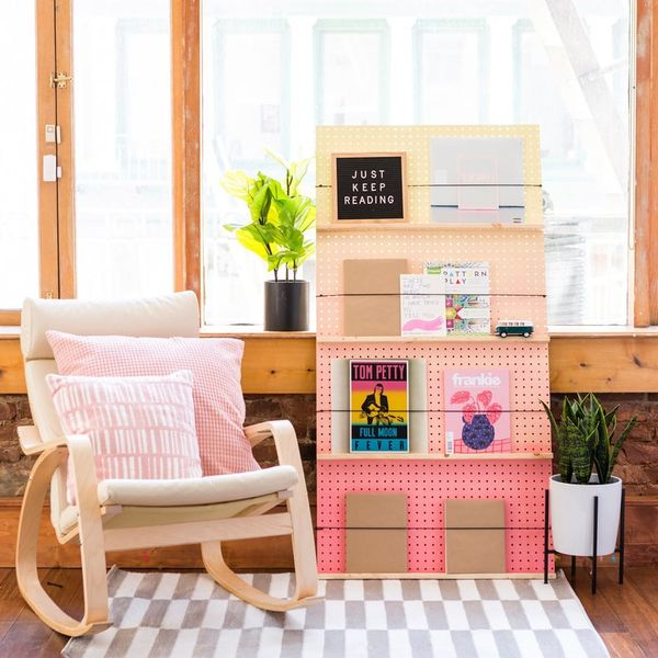 Make a Statement With This DIY Ombre Book Shelf