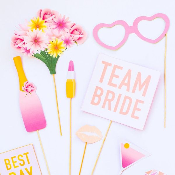 These Bachelorette Party Photo Booth Props Are Perfect for You and Your Squad