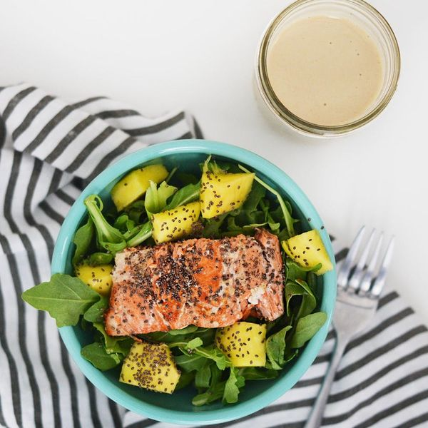 This 20-Minute Tahini Salmon Salad Recipe Will Fire Up All Your Taste Buds