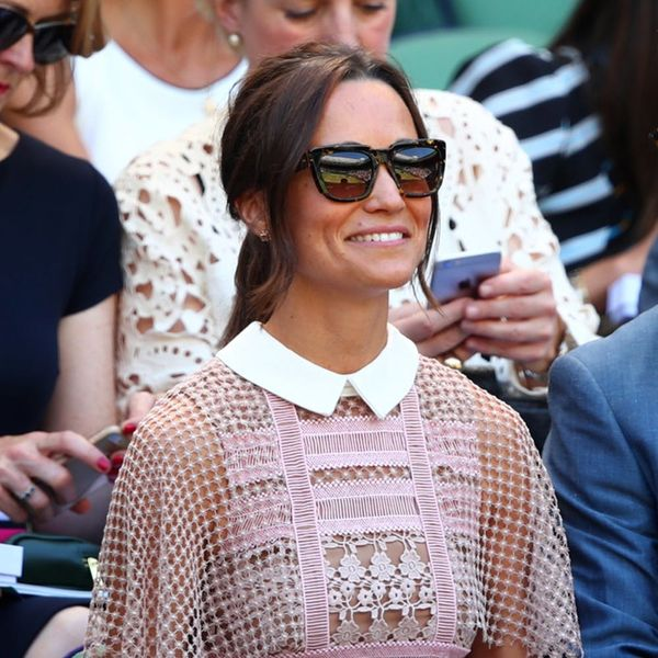 Pippa Middleton Wows at Wimbledon in Sheer Lace Dress