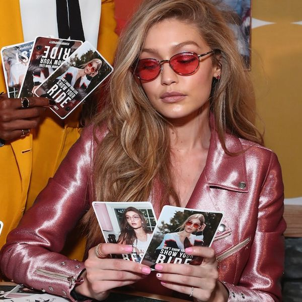 Gigi Hadid Is an Actual Barbie Come to Life in This Shiny Pink Jumpsuit