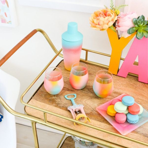 Outfit the Bar Cart of Your Dreams With These 9 DIY Projects