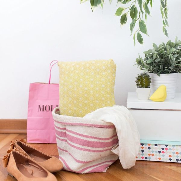 Try This IKEA Hack and Transform a Simple $4 Rug into a Basket