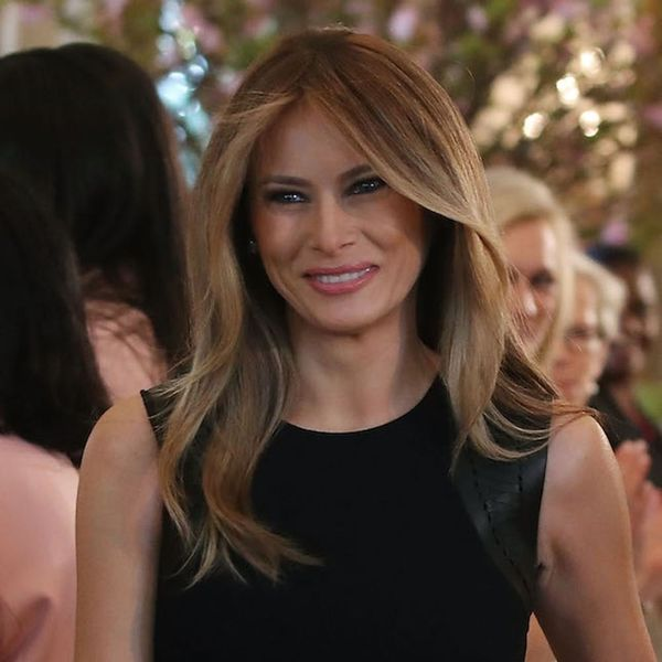 You Can't Miss the Back Detail from Melania Trump's Pink Dress