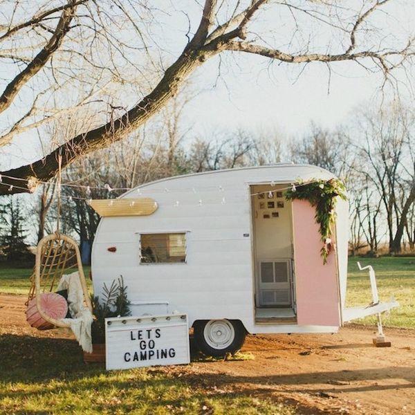 This Super Cool Vintage Camper Makeover Is Glamping Goals