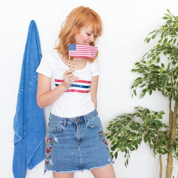 How to Make a Stars-and-Stripes Tee for the 4th of July in Less Than 10 Minutes