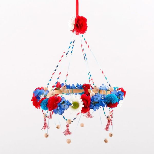 Raise Your 4th of July Spirit With This Crafty Chandelier