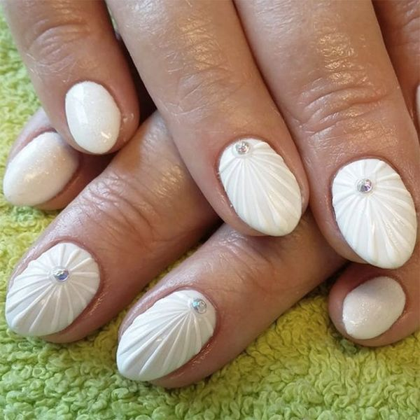 9 White-on-White Nail Designs to Keep Your Mani Looking Polished