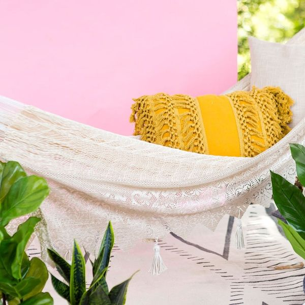 Use This Home Decor Item to Upgrade Your Patio's Hammock