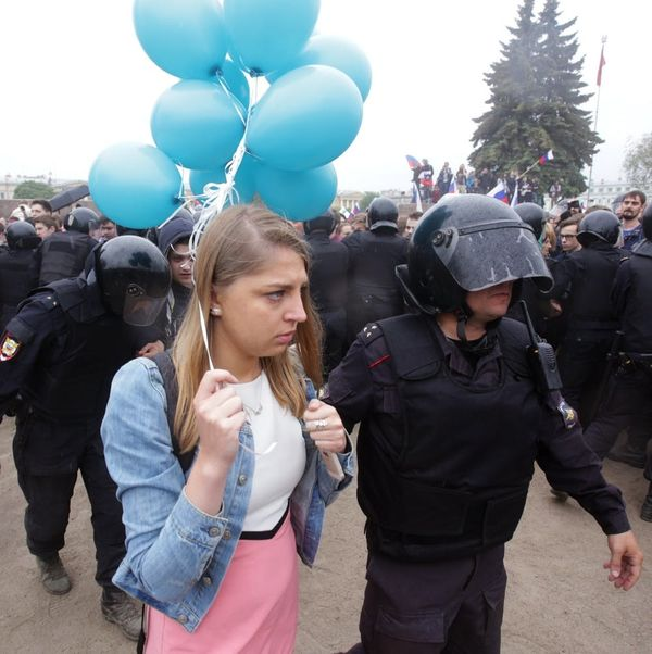 Teen Girls Put Themselves on the Front Lines in Anti-Government Protests in Russia