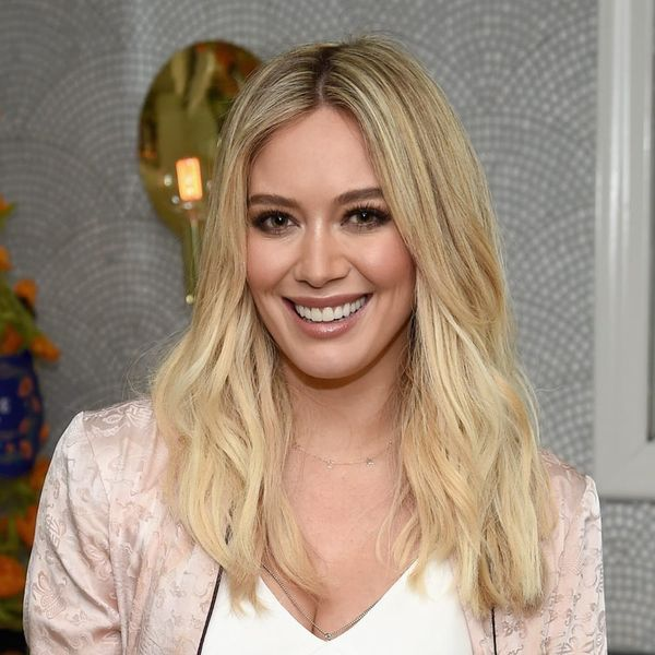 Hilary Duff Looks Like the Dancing Lady Emoji in This Killer Red Dress