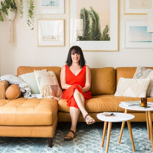 Check Out This 360 Tour of a Boho-Chic Living Room Makeover