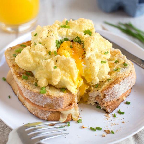 Meet the Ultimate Breakfast Sandwich: a Cloud-Egg Croque Madame!