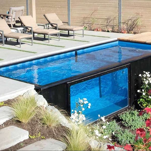 This Company Repurposes Shipping Containers into Swimming Pools for the Backyard of Your Dreams