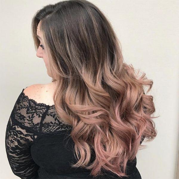 9 Chocolate Rose-Gold Hair Colors That'll Make You (Hair) Flip