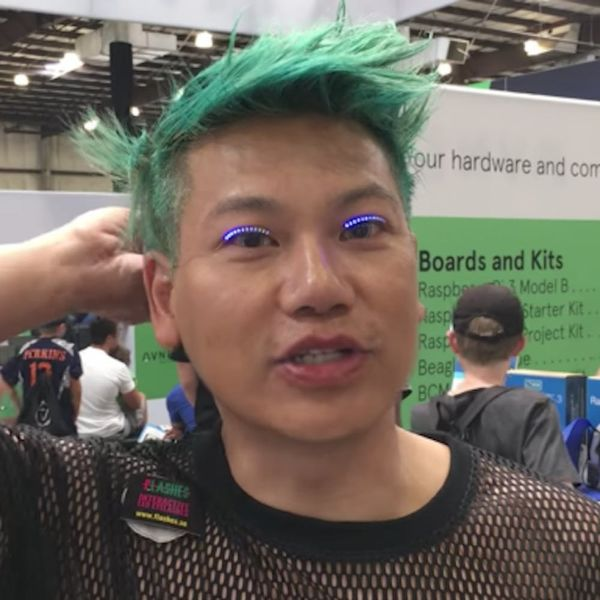 You Have to See These Insane New LED Eyelash Strips