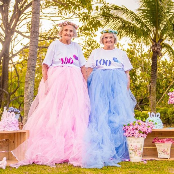 These 100-Year-Old Twin Sisters Had a Birthday Photo Shoot in Matching Tutus and It's Giving Us Major Life Goals