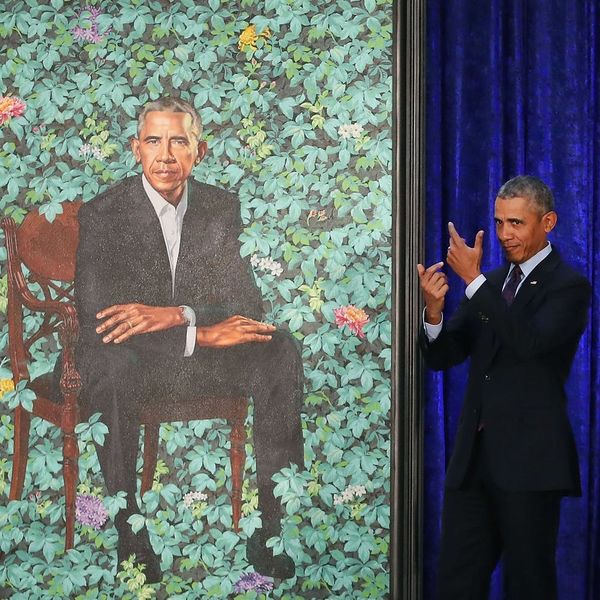 Barack and Michelle Obama's National Portrait Gallery Portraits Are So Stunning
