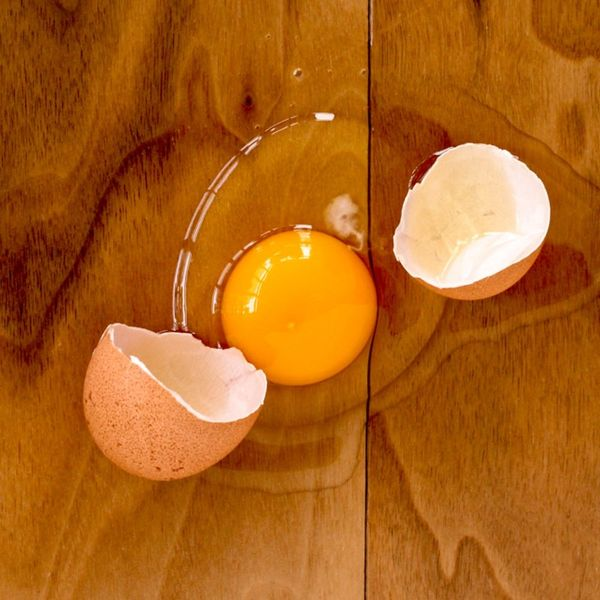 This Simple Tip Makes Cleaning Up Broken Eggs a Breeze