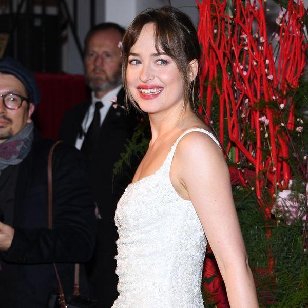 Dakota Johnson Wore Bridal White to the 'Fifty Shades Freed' Premiere
