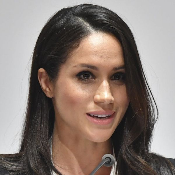 Meghan Markle Gets in on the Reigning Pantsuit Trend for Her First Black-Tie Event With Prince Harry