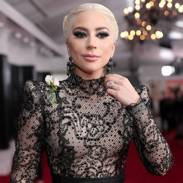 Lady Gaga Fuels Engagement Buzz at the Grammys With Her *Huge* Pink Diamond Ring
