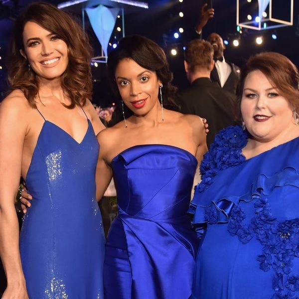 The Ladies of 'This Is Us' Were Triplets in Blue on the 2018 SAG Awards Carpet