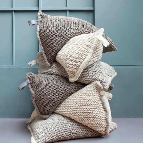 Hand-Knit Beanbag Chairs Are the Stylish *and* Cozy Furniture You NEED
