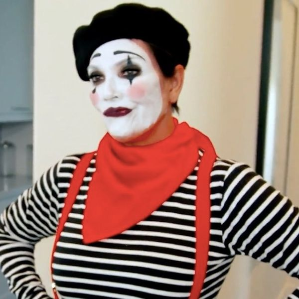 Kris Jenner Dressed Like a Mime for Khloé Kardashian and We Have So Many Questions