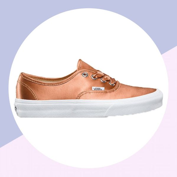 Vans Has Shiny Rose Gold Sneakers and We're Freaking Out