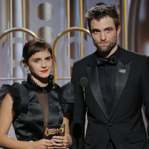 Emma Watson and Robert Pattinson Had a Mini 'Harry Potter' Reunion at the 2018 Golden Globes