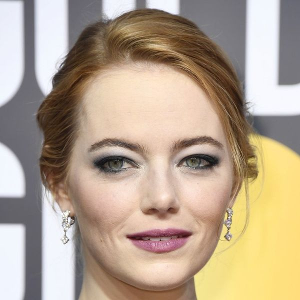 You Probably Missed the Powerful Super Message Behind Emma Stone's Golden Globes Makeup