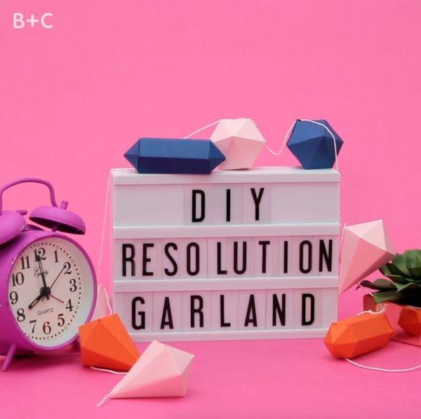DIY Resolution Garland