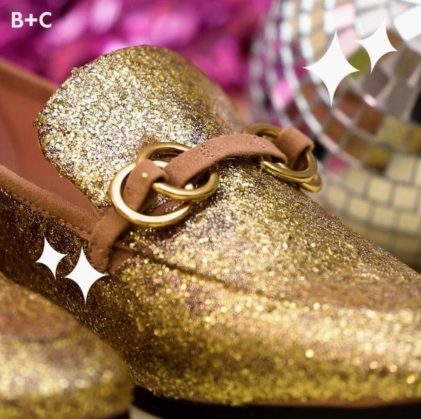 DIY Glitter Loafers