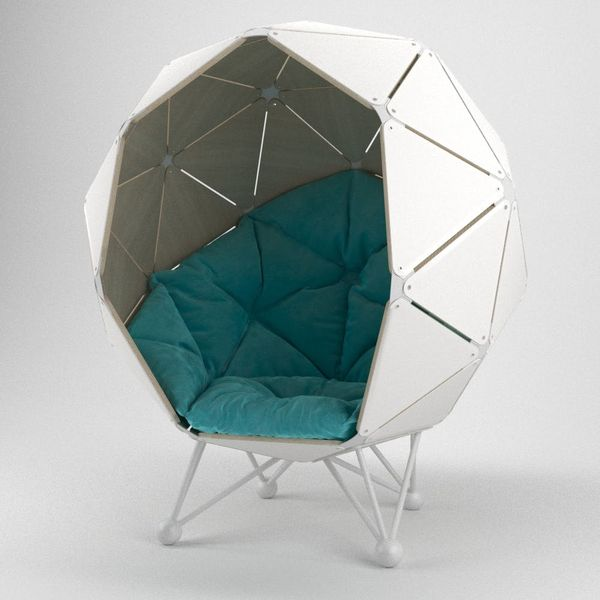 This Cocoon-Like Chair Is the Perfect Working Space When You Just Need to Be Alone