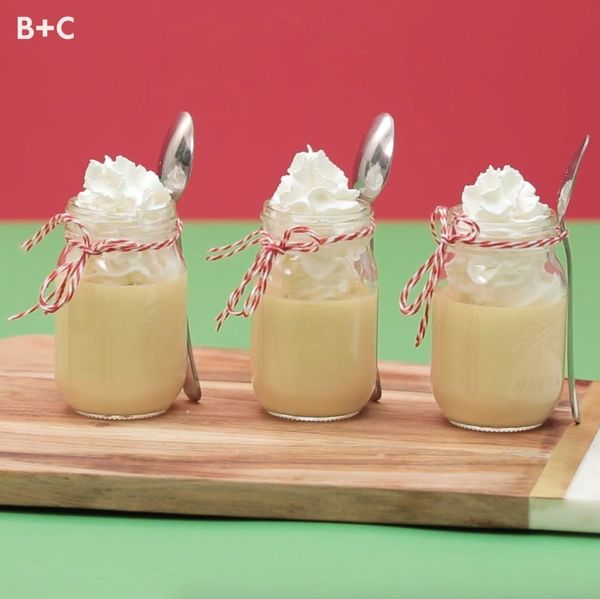 DIY Peppermint Eggnog Jello Shots