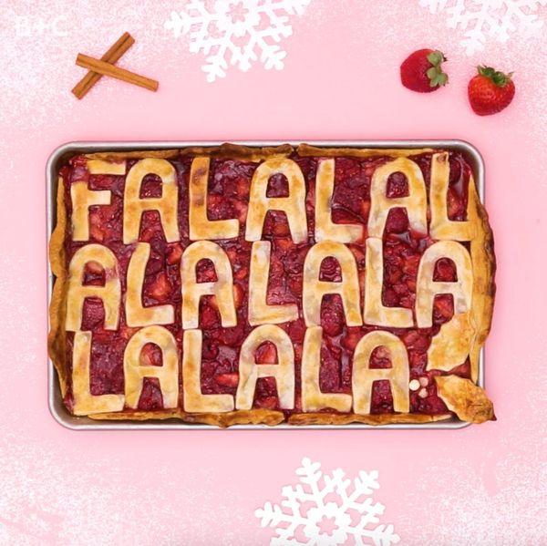 DIY Fa La La La Slab Pie