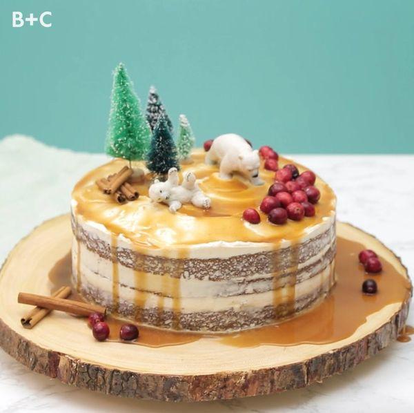 DIY Naked Applesauce Cake