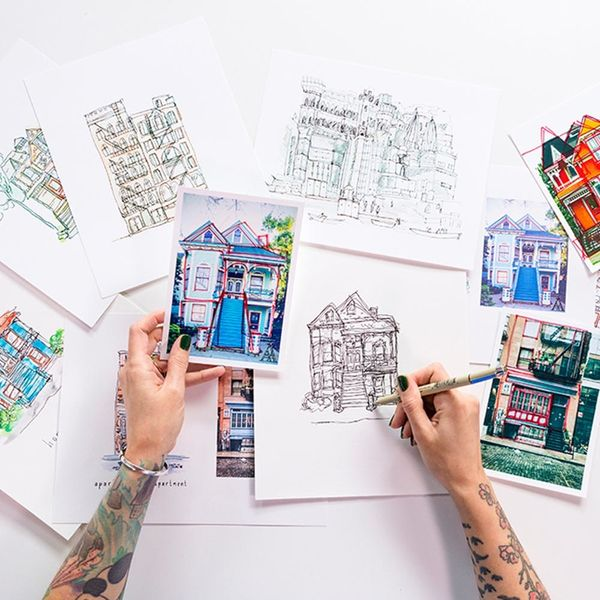 Peggy Dean Is Back To Teach You How To Create A Quaint Illustration of Your Home