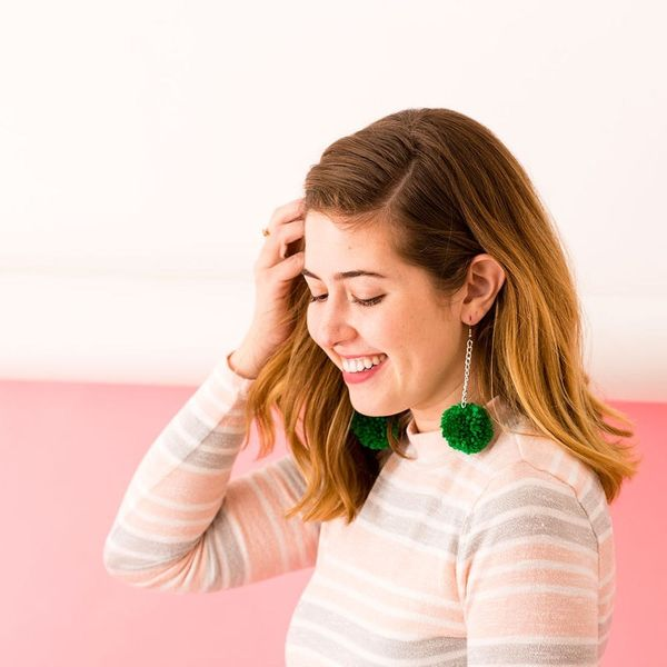 DIY These Trendy Pom-Pom Earrings for Your BFF