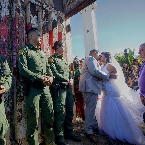 This Couple's Cross-Border Wedding Proves a Wall Is No Match for Love