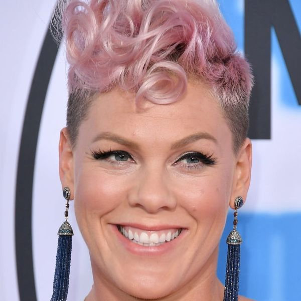 Pink Hung Off the Side of an Actual Hotel Building at the 2017 AMAs