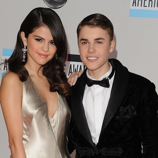 Justin Bieber and Selena Gomez Were Spotted Sharing a Kiss at His Hockey Game