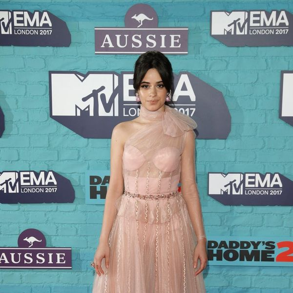 Camila Cabello Exposes Her Bra Inserts on the Red Carpet… and It Works