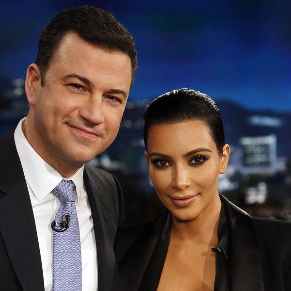 Kim Kardashian Reading Kanye West's Mean Tweet to Jimmy Kimmel Is Everything