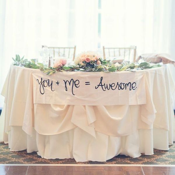 11 Wedding Sweetheart Table Signs That Say It All