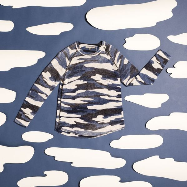 This Camo Cashmere Pullover Is the Answer to Sweater Weather