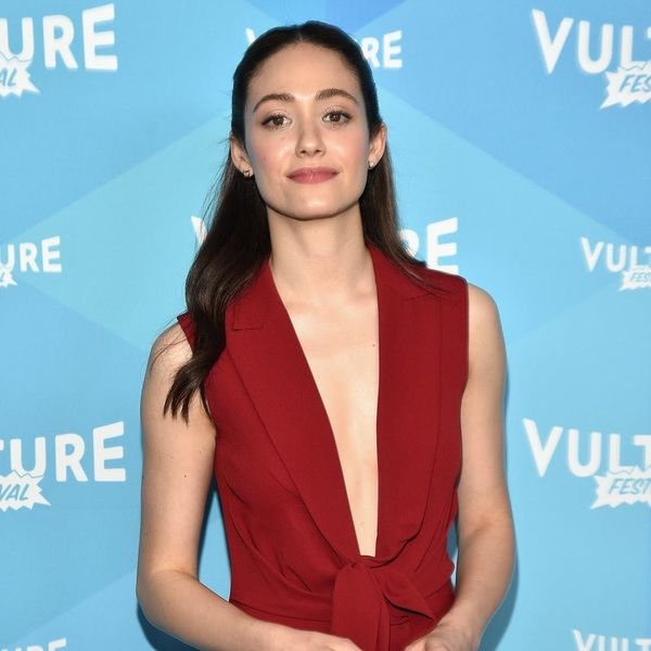 Emmy Rossum's New Lob Haircut Is the Perfect Fall 'Do